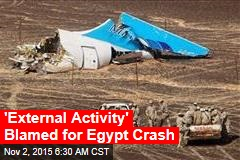 'External Activity' Blamed for Egypt Crash