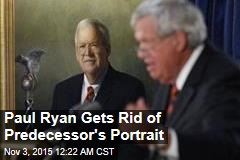 Ryan Gets Rid of Predecessor's Portrait