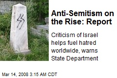 Anti-Semitism on the Rise: Report