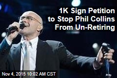 1K Sign Petition to Stop Phil Collins From Un-Retiring