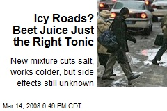 Icy Roads? Beet Juice Just the Right Tonic
