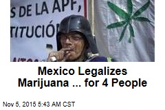 Mexico Legalizes Marijuana ... for 4 People