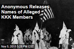 Anonymous Releases Names of Alleged KKK Members