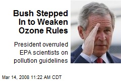 Bush Stepped In to Weaken Ozone Rules