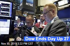 Dow Ends Day Up 27
