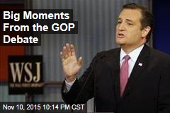 Big Moments From the GOP Debate
