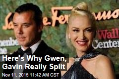 Here's Why Gwen, Gavin Really Split