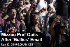 Mizzou Prof Quits After 'Bullies' Email