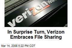 In Surprise Turn, Verizon Embraces File Sharing