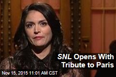 SNL Opens With Tribute to Paris