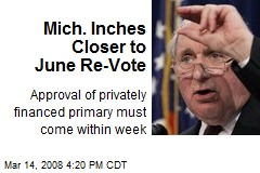Mich. Inches Closer to June Re-Vote