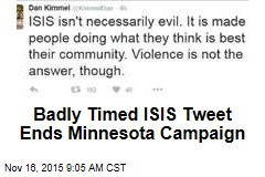 Badly Timed ISIS Tweet Ends Minn. Campaign