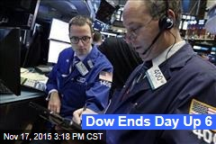 Dow Ends Day Up 6
