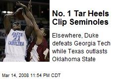 No. 1 Tar Heels Clip Seminoles