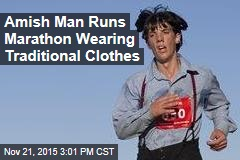 Amish Man Runs Marathon Wearing Traditional Clothes