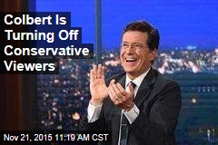 Colbert Is Turning Off Conservative Viewers