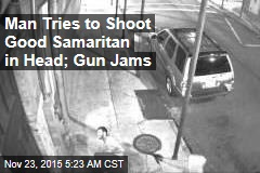 Man Tries to Shoot Good Samaritan in Head; Gun Jams