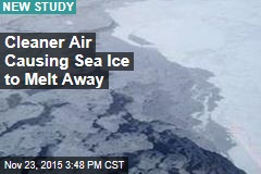 Cleaner Air Is Causing Arctic Sea-Ice Melt