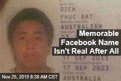 Memorable Facebook Name Isn't Real After All