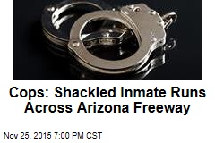 Cops: Shackled Inmate Runs Across Arizona Freeway
