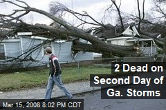 2 Dead on Second Day of Ga. Storms