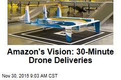 Amazon's Vision: 30-Minute Drone Deliveries