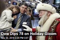 Dow Dips 78 on Holiday Gloom