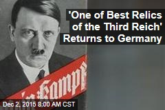'One of Best Relics of the Third Reich' Returns to Germany