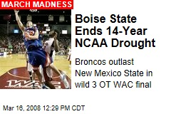 Boise State Ends 14-Year NCAA Drought