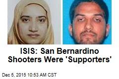 ISIS: San Bernardino Shooters Were 'Supporters'