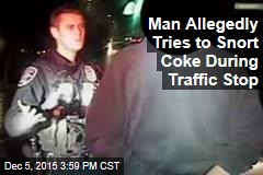 Man Allegedly Tries to Snort Coke During Traffic Stop