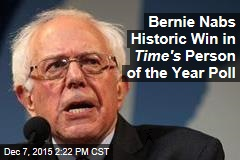 Bernie Nabs Historic Win in Time's Person of the Year Poll