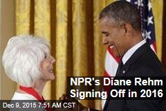 NPR's Diane Rehm Signing Off in 2016