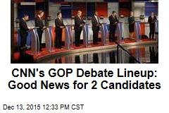 CNN's GOP Debate Lineup: Good News for 2 Candidates