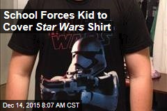 School Forces Kid to Cover Star Wars Shirt