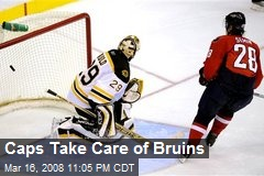 Caps Take Care of Bruins