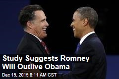 Study Suggests Romney Will Outlive Obama