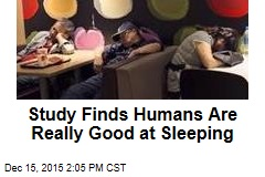 Study Finds Humans Are Really Good at Sleeping