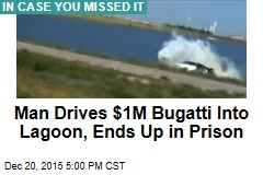 Man Drives $1M Bugatti Into Lagoon, Ends Up in Prison