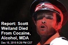 Report: Scott Weiland Died From Cocaine, Alcohol, MDA