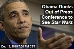 Obama Ducks Out of Press Conference to See Star Wars