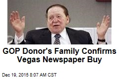 GOP Donor's Family Confirms Vegas Newspaper Buy