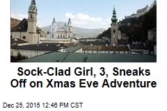 Sock-Clad Girl, 3, Sneaks Off on Xmas Eve Adventure
