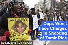 Cops Won't Face Charges in Shooting of Tamir Rice