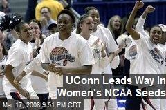 UConn Leads Way in Women's NCAA Seeds