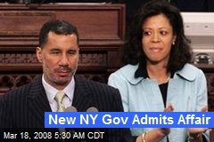 New NY Gov Admits Affair