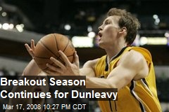 Breakout Season Continues for Dunleavy