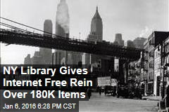 NY Library Gives Internet Free Rein Over 180K Items