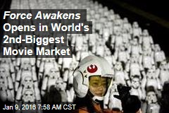 Force Awakens Opens in World's 2nd-Biggest Movie Market