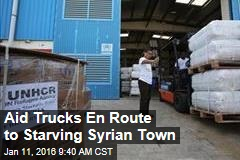 Aid Trucks En Route to Starving Syrian Town